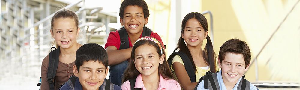 Pre teen children in school